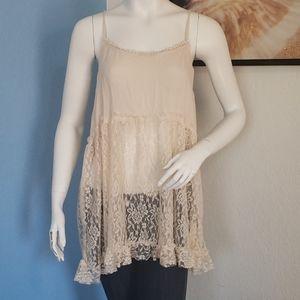 New Lace Tunic Size L
